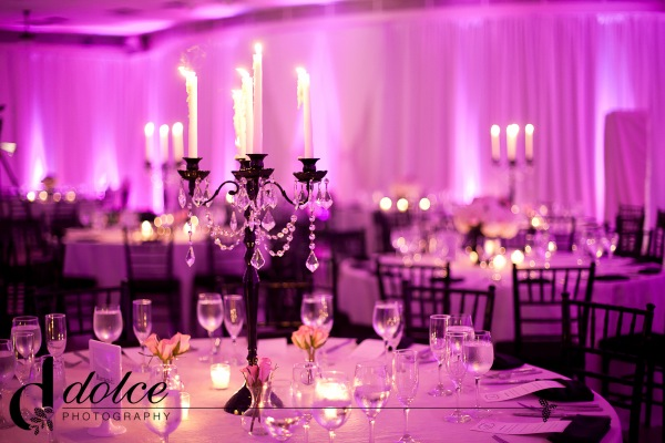 black-white-pink-wedding-reception