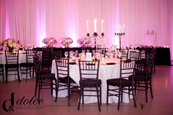 pink-black-white-wedding-draping